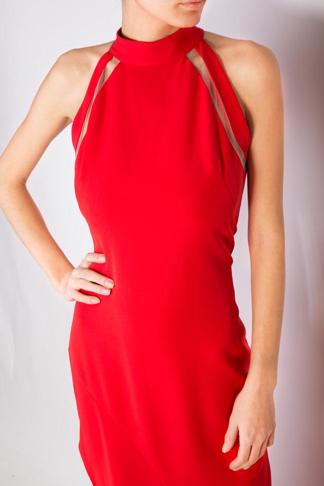 Eiza tulle-paneled crepe maxi dress Simona Semen image 3