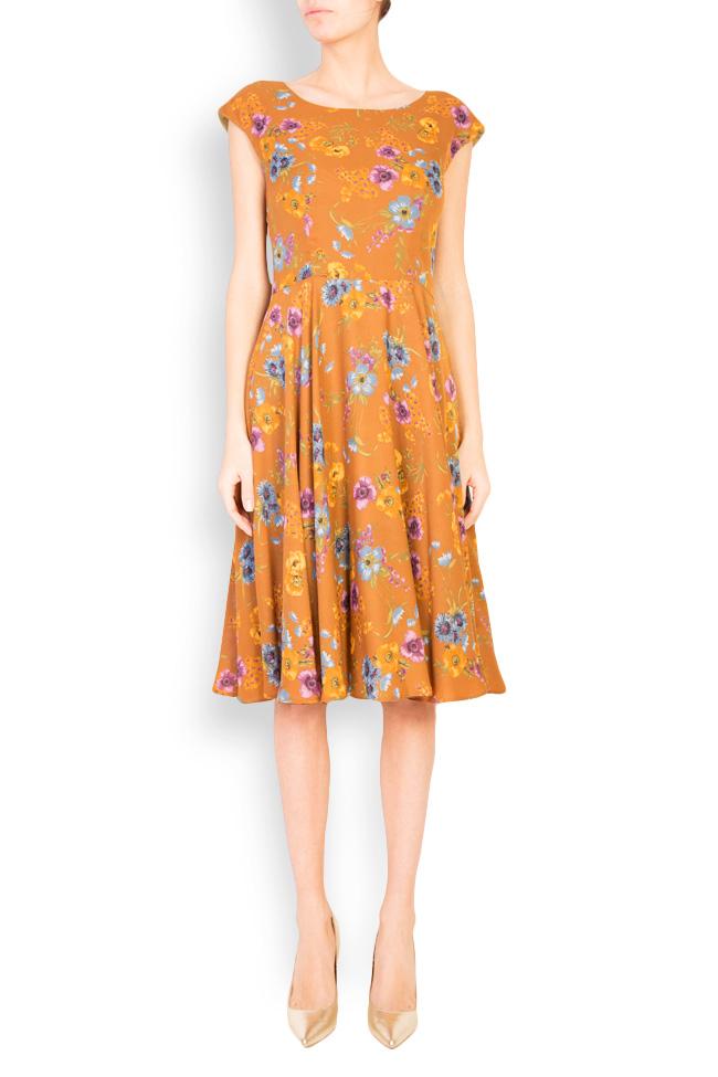 Floral-print midi dress Oana Manolescu image 0