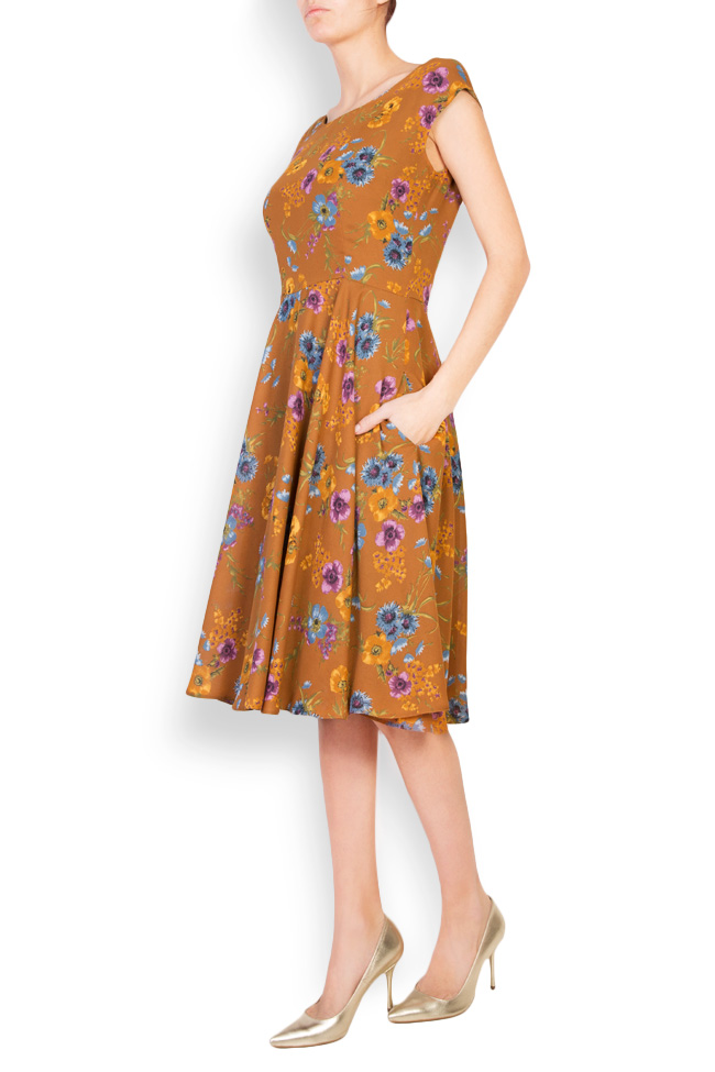 Floral-print midi dress Oana Manolescu image 1