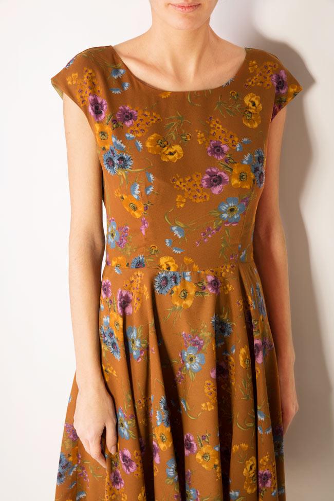 Floral-print midi dress Oana Manolescu image 3