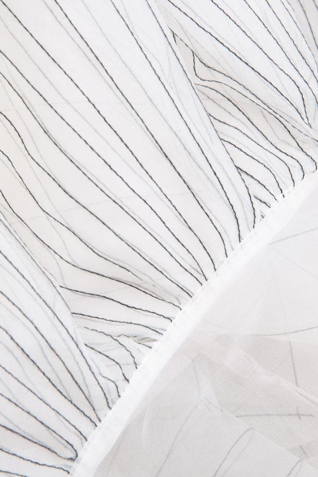 Pleated silk organza mini dress LUWA image 4