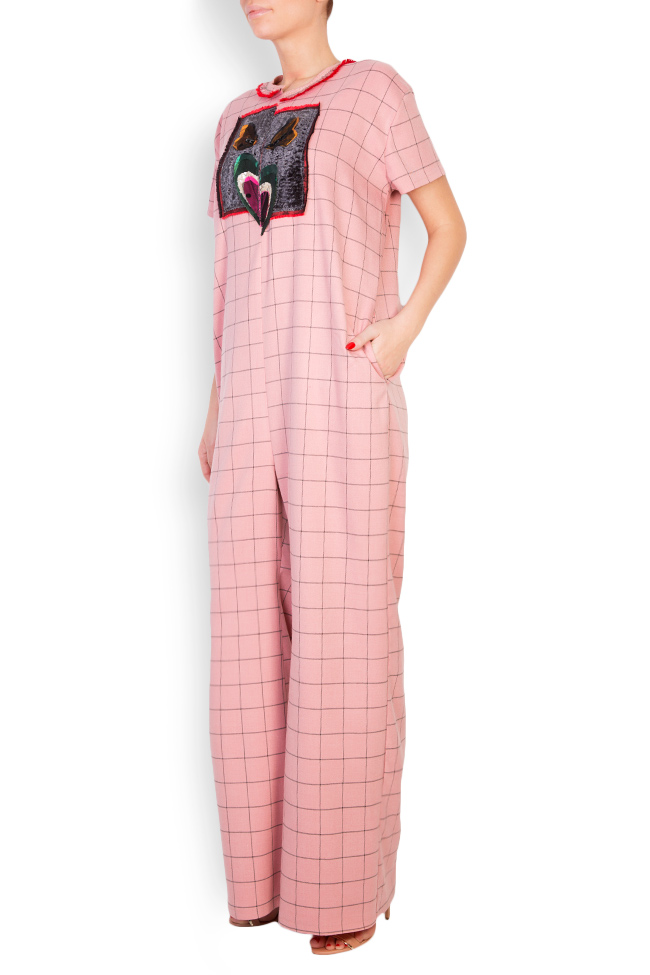 Embellished checked cady jumpsuit Marius Musat image 1