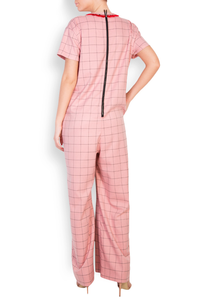 Embellished checked cady jumpsuit Marius Musat image 2