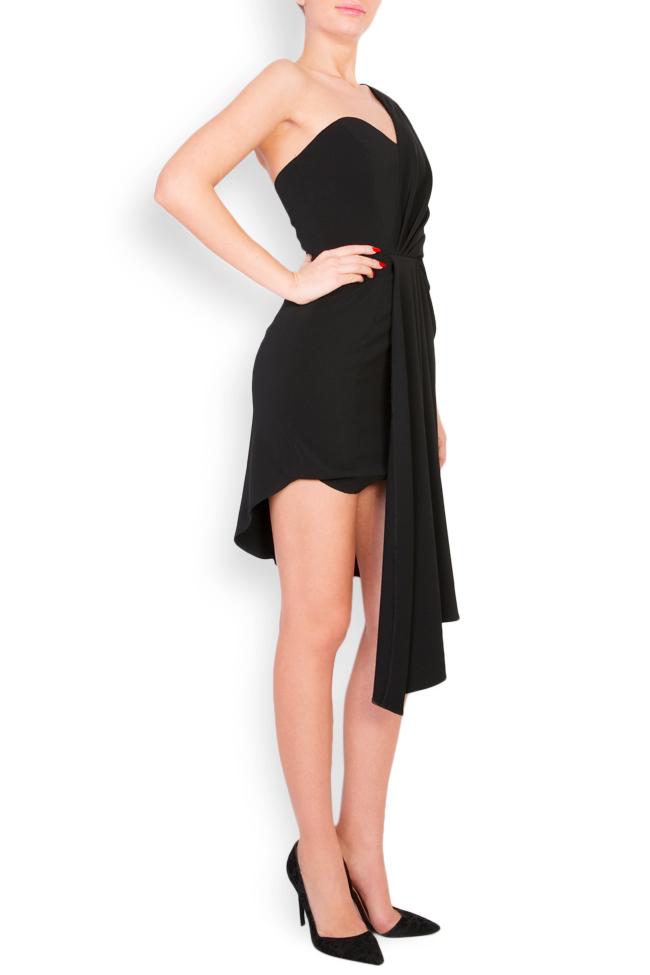 Rave asymmetric crepe midi dress Alina Cernatescu image 1