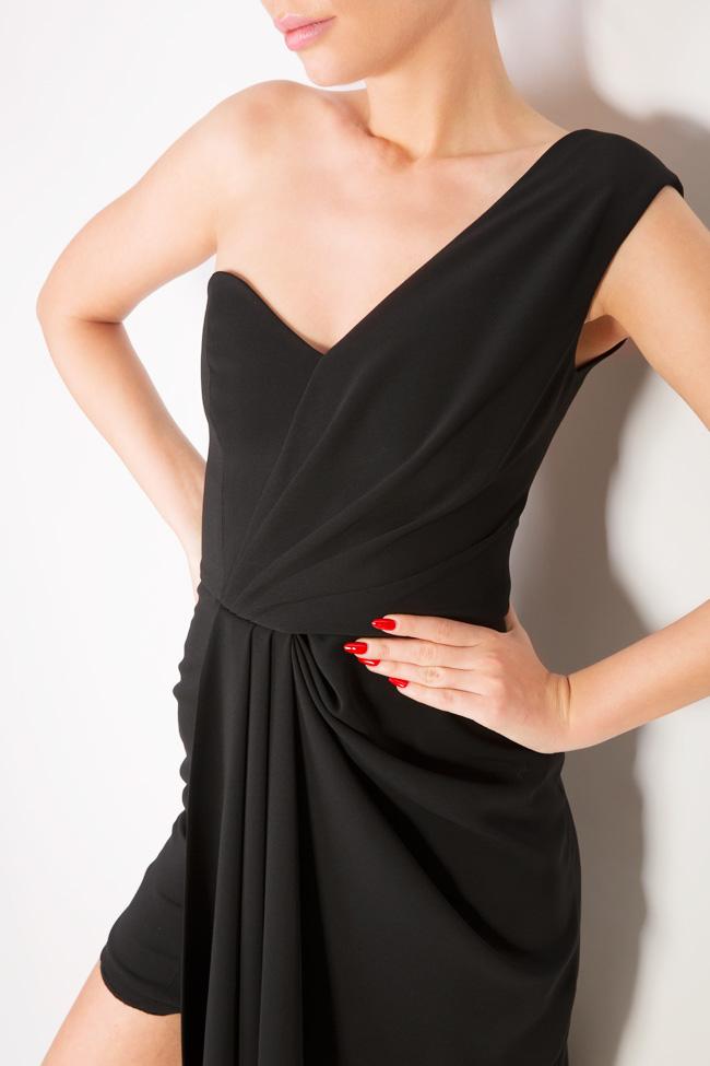 Rave asymmetric crepe midi dress Alina Cernatescu image 3