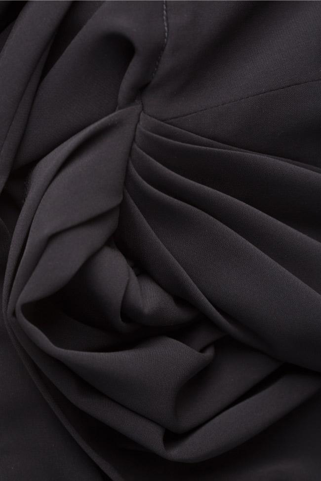 Rave asymmetric crepe midi dress Alina Cernatescu image 5