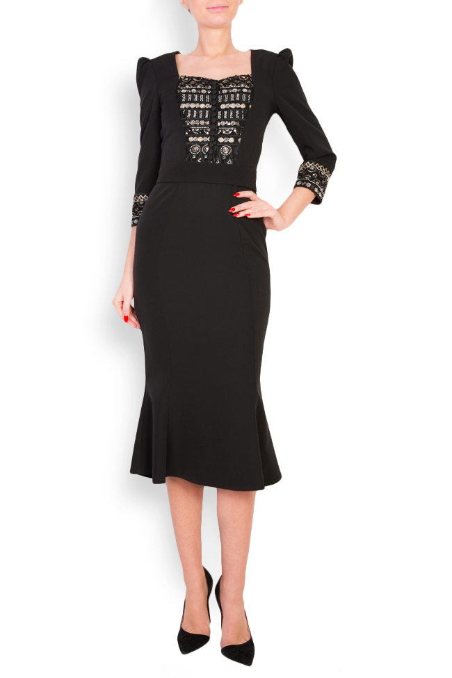 Embellished crepe midi dress Mariana Ciceu image 0