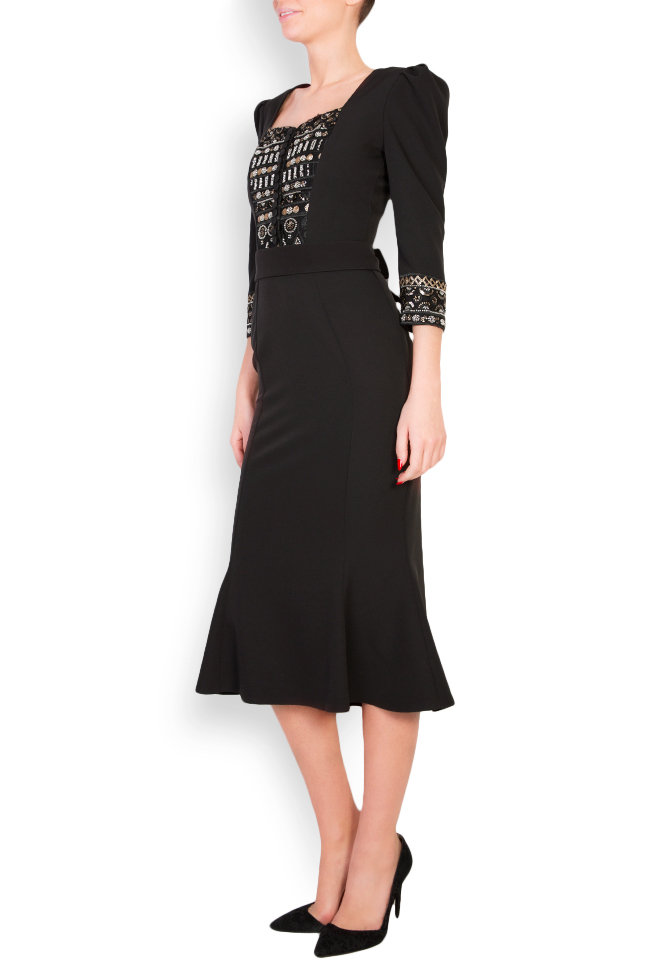 Embellished crepe midi dress Mariana Ciceu image 1