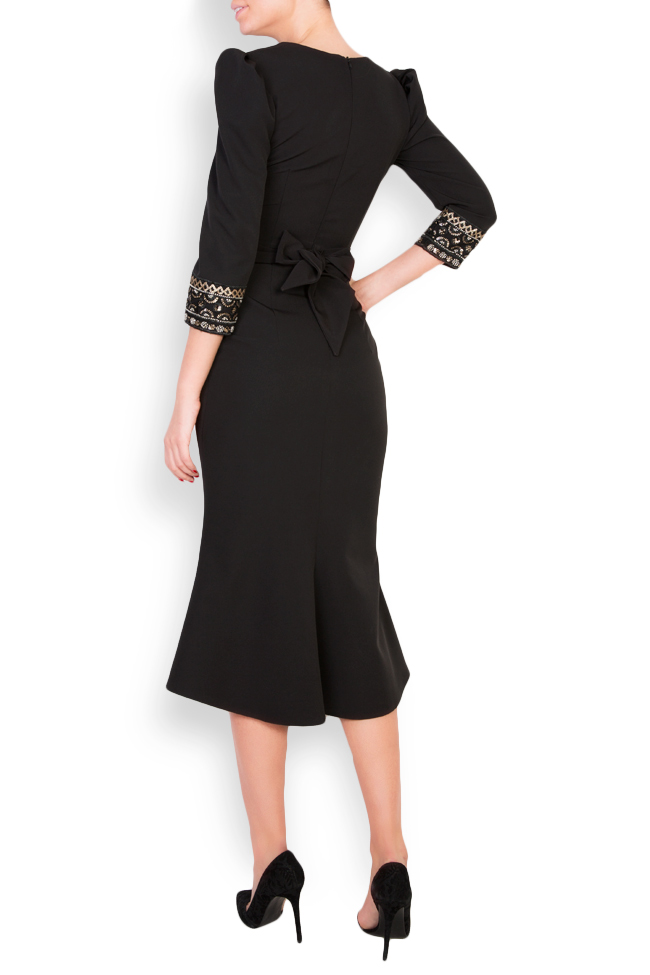 Embellished crepe midi dress Mariana Ciceu image 2