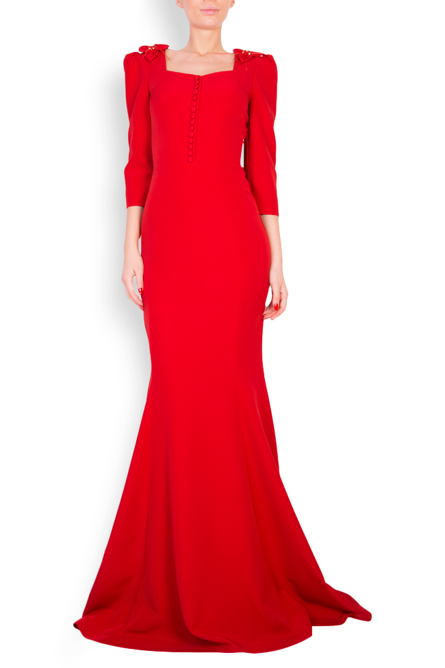 Embellished crepe gown Mariana Ciceu image 0