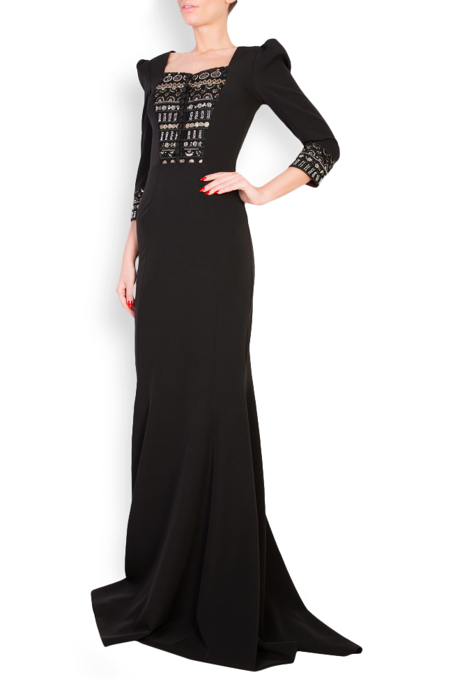 Embellished crepe gown  Mariana Ciceu image 1