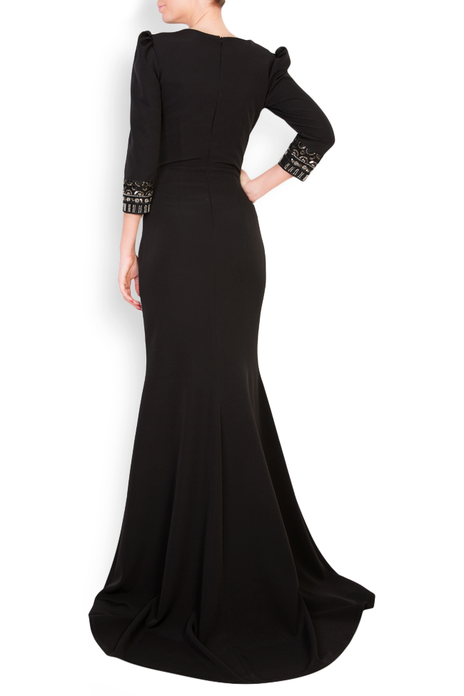 Embellished crepe gown  Mariana Ciceu image 2