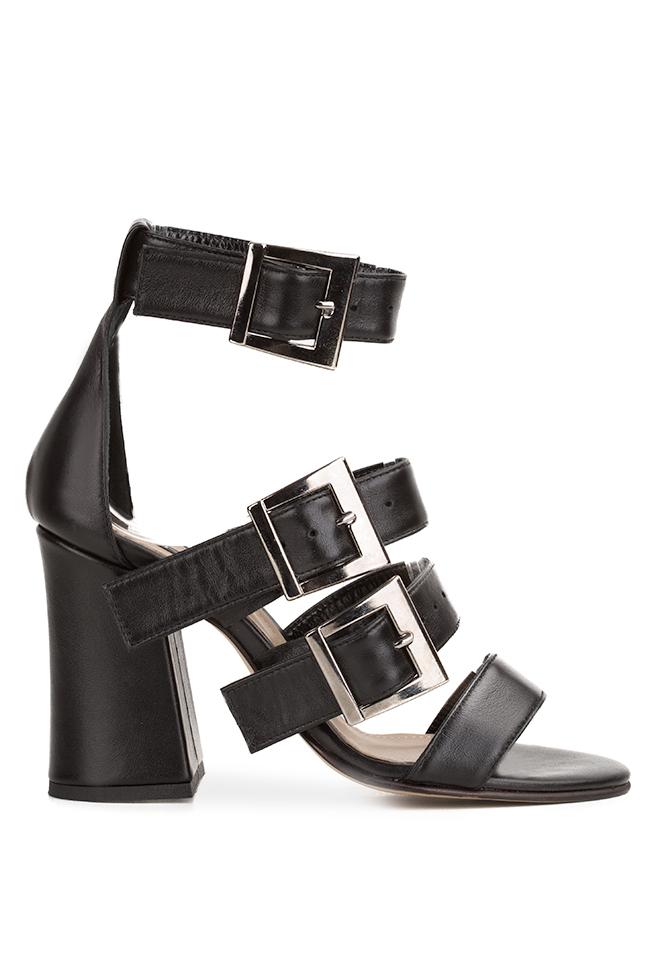 Black Allure leather sandals Hannami image 0