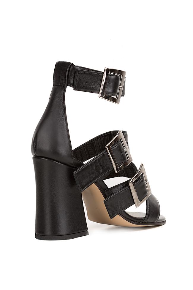 Black Allure leather sandals Hannami image 1