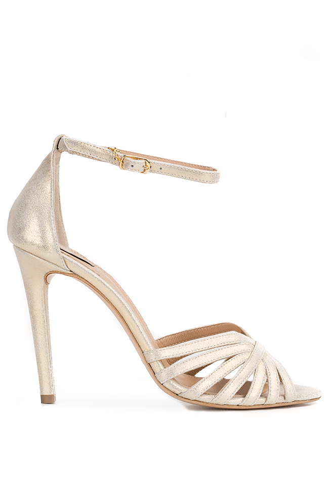 Golden Nicole metallic leather sandals Hannami image 0