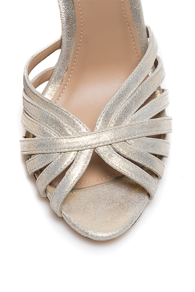 Golden Nicole metallic leather sandals Hannami image 2