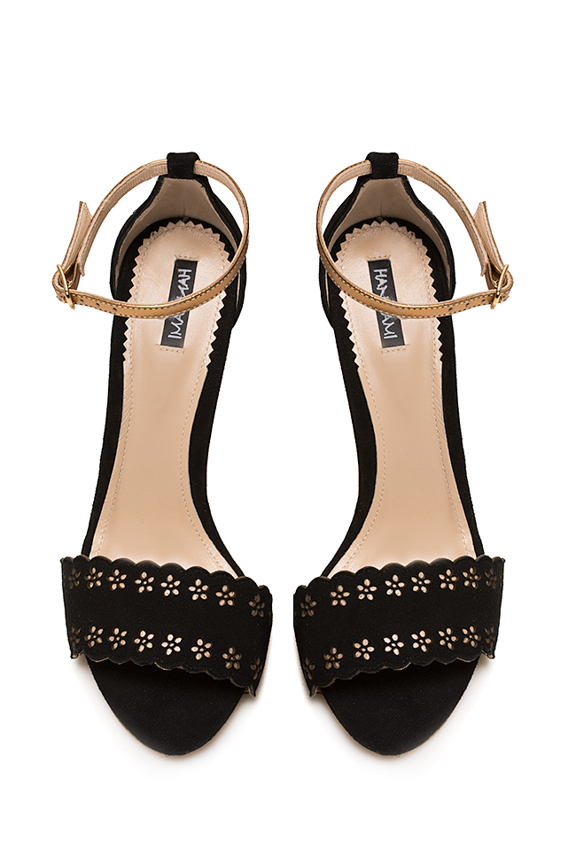 Laser-cut leather sandals Hannami image 2