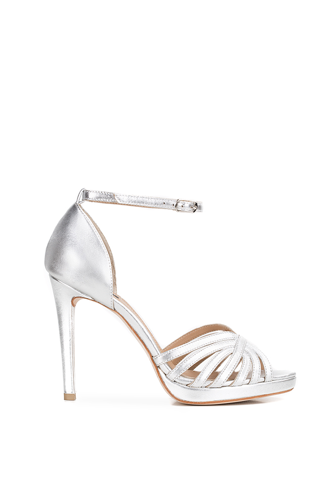 New Nicole metallic leather sandals Hannami image 0