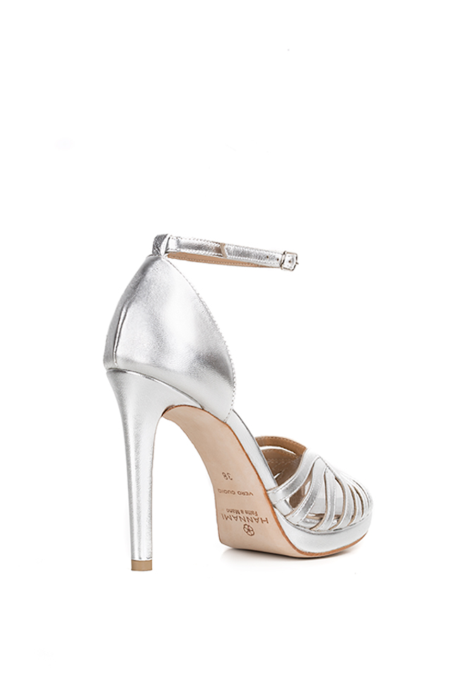 New Nicole metallic leather sandals Hannami image 1