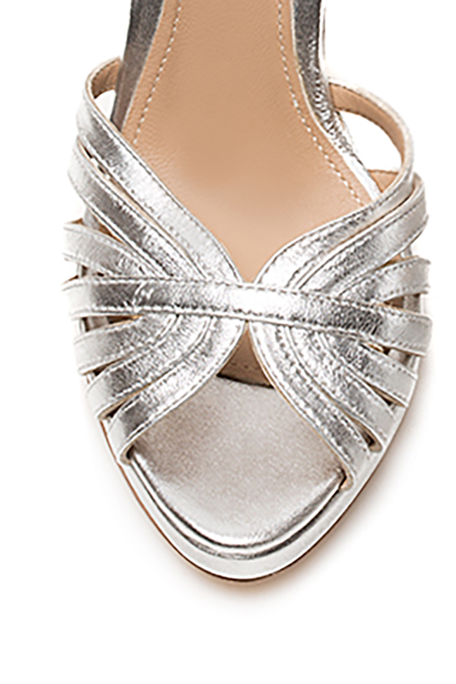 New Nicole metallic leather sandals Hannami image 2