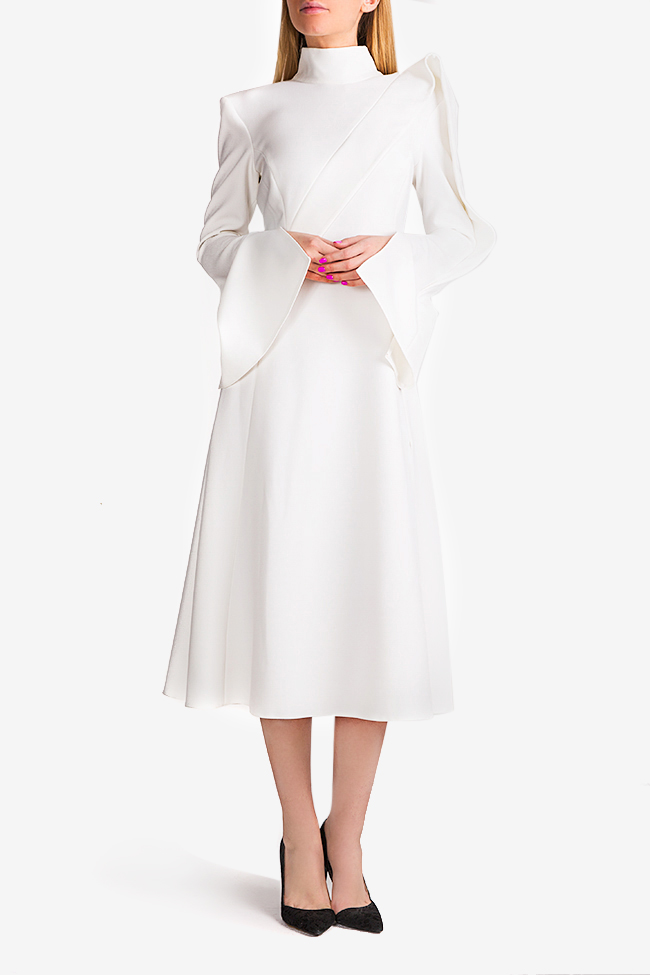 Cape-effect midi dress Florentina Giol image 1