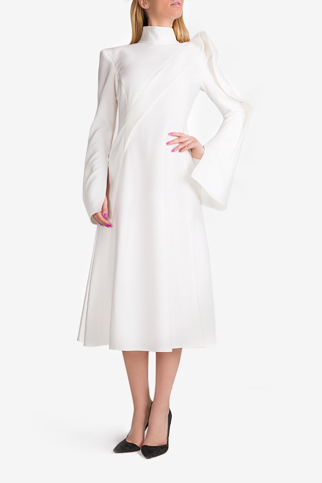 Cape-effect midi dress Florentina Giol image 0