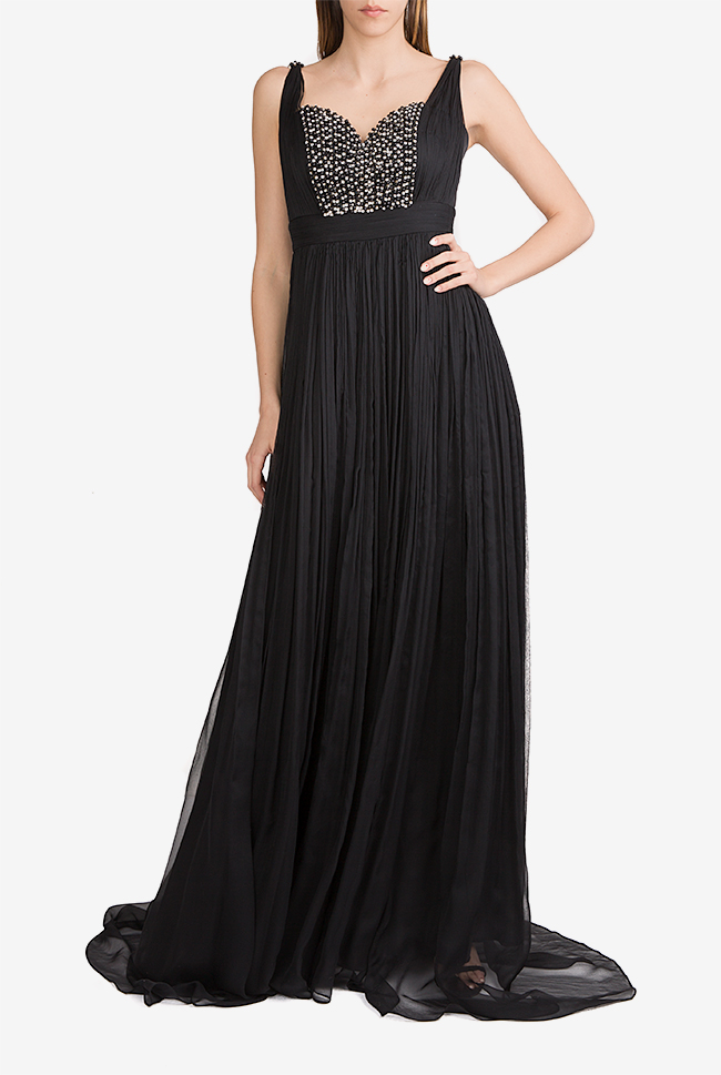 Geneva embellished silk mousseline maxi dress Essa Lian image 0