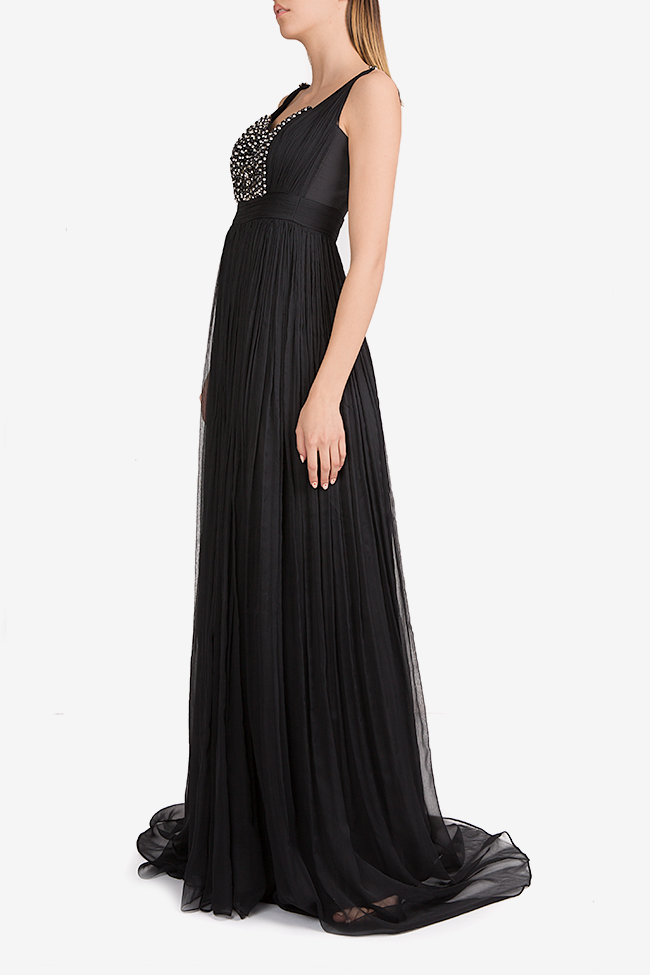 Geneva embellished silk mousseline maxi dress Essa Lian image 1