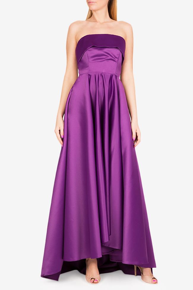 Asymmetric taffeta gown Cloche image 0