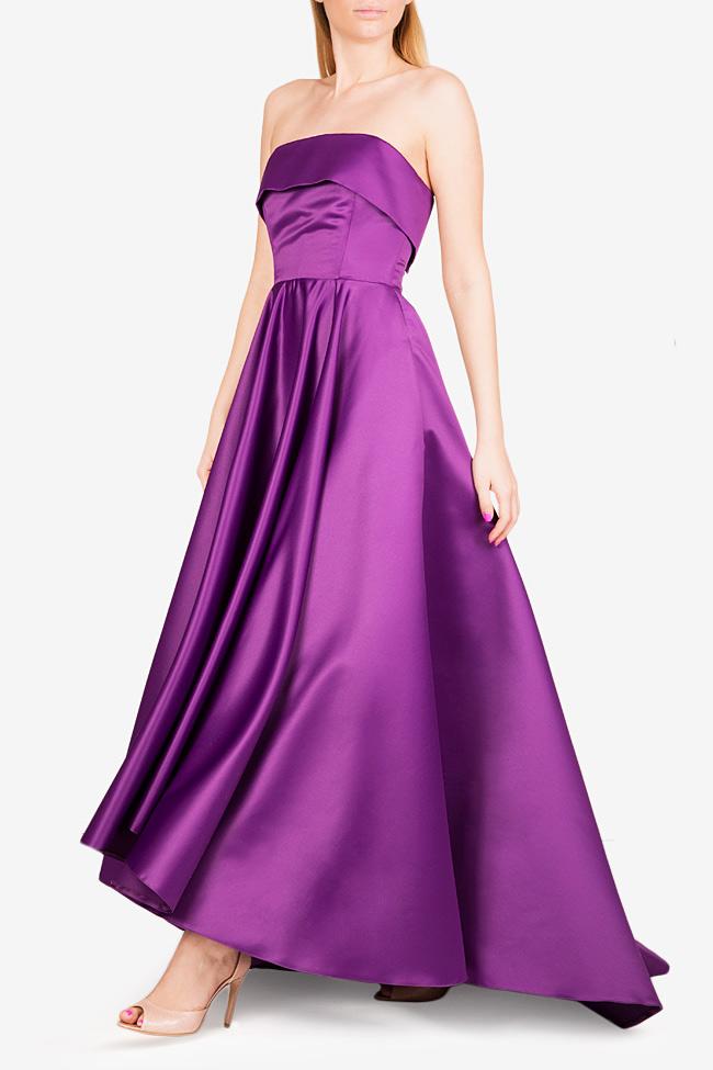 Asymmetric taffeta gown Cloche image 1