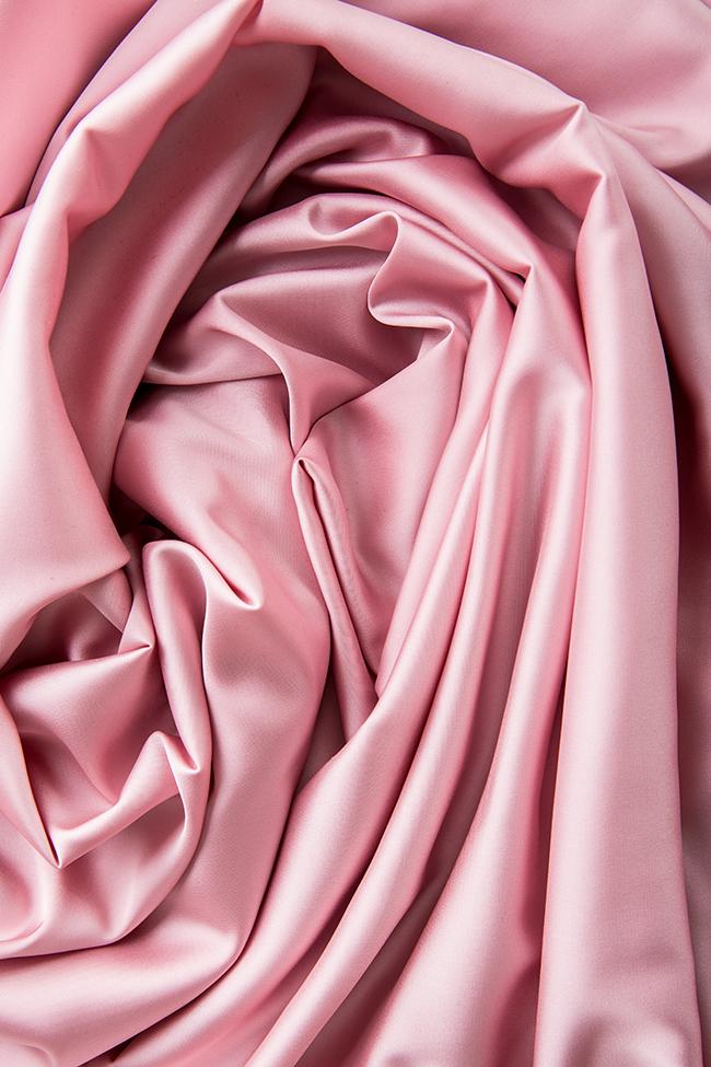 Hortensian asymmetric ruffled open-back silk satin dress Arllabel Golden Brand image 4