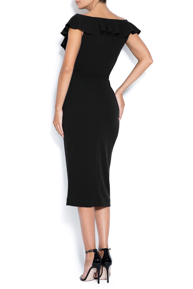 Adelina off-the-shoulder crepe midi dress Love Love  image 2