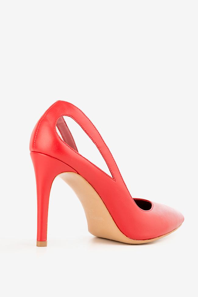 Pantofi din piele cu decupaje Zura90 Ginissima imagine 1