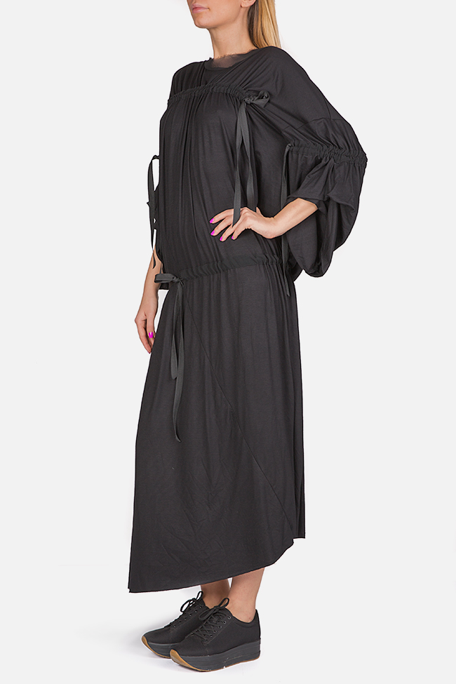Asymmetric cotton-blend jersey maxi dress Studio Cabal image 1