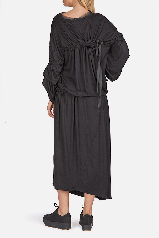 Asymmetric cotton-blend jersey maxi dress Studio Cabal image 2