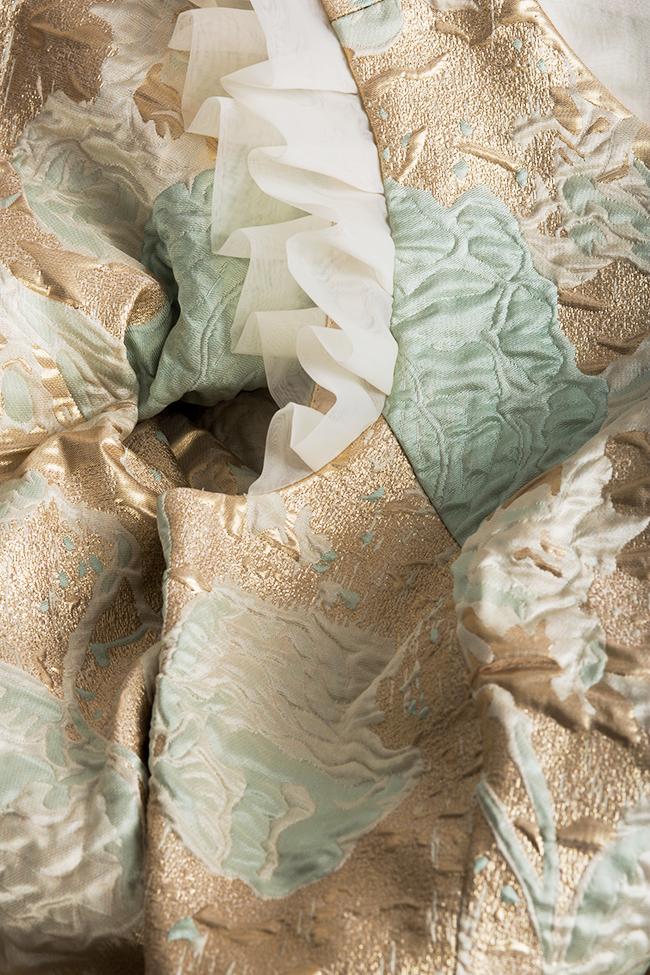 Rochie din brocard din amestec de matase Annabel Ramona Belciu imagine 3