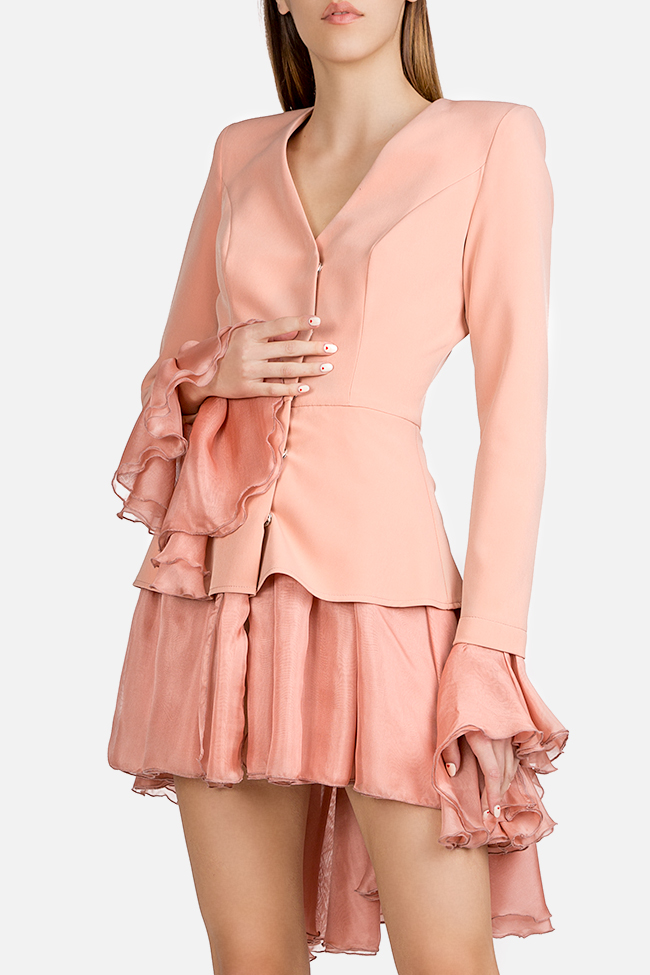 Silk-trimmed crepe blazer dress Esa  image 0