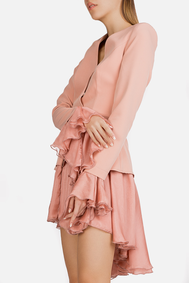 Silk-trimmed crepe blazer dress Esa  image 2