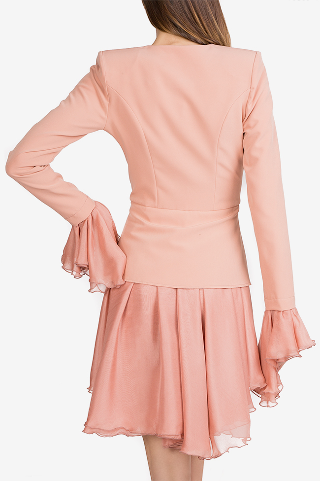 Silk-trimmed crepe blazer dress Esa  image 3