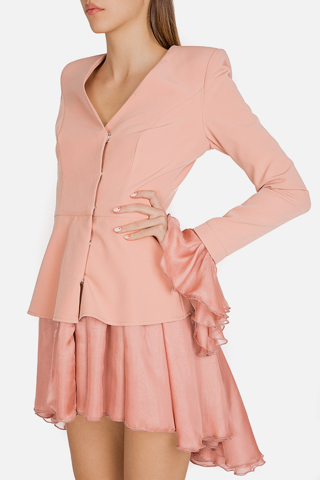 Silk-trimmed crepe blazer dress Esa  image 4
