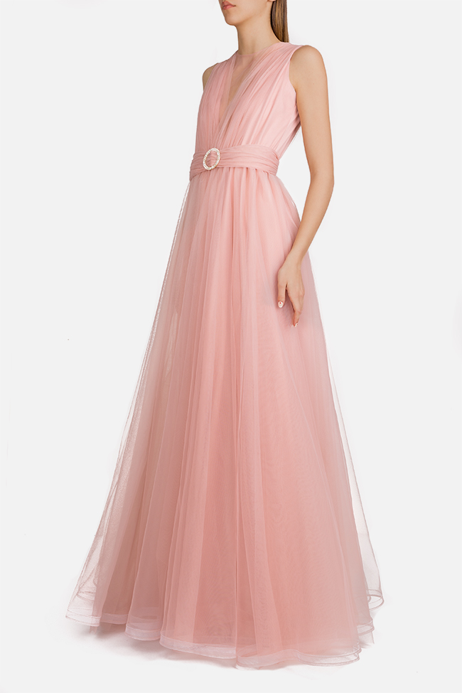 Belted tulle maxi dress Esa  image 1