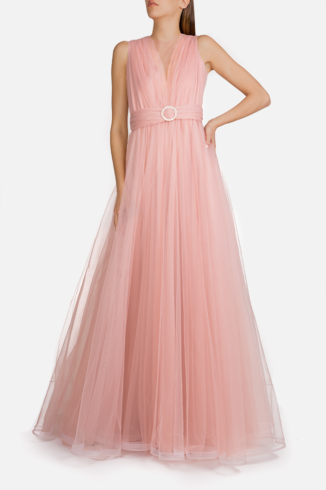 Belted tulle maxi dress Esa  image 0
