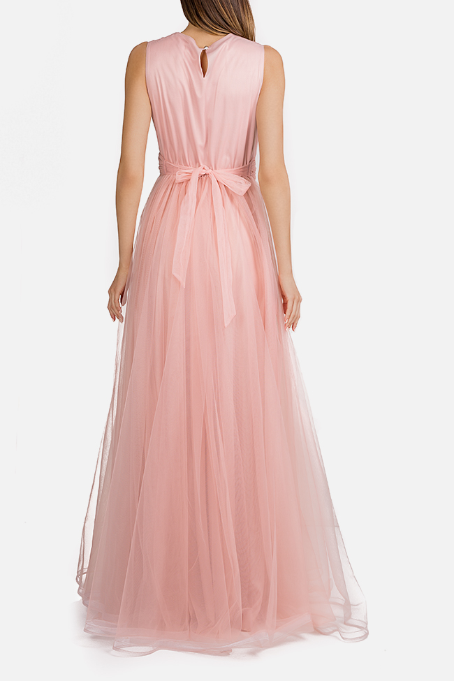 Belted tulle maxi dress Esa  image 2