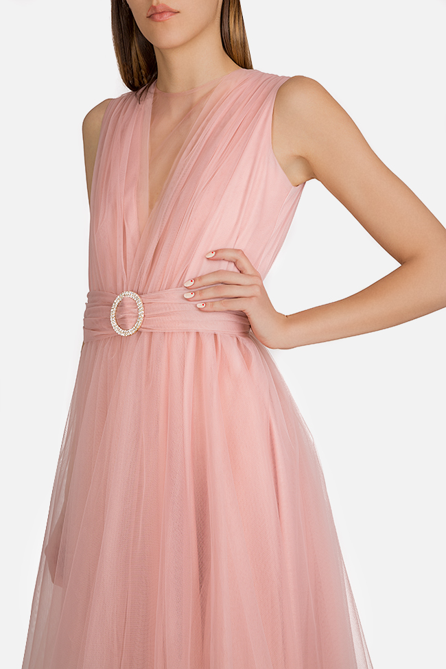Belted tulle maxi dress Esa  image 3