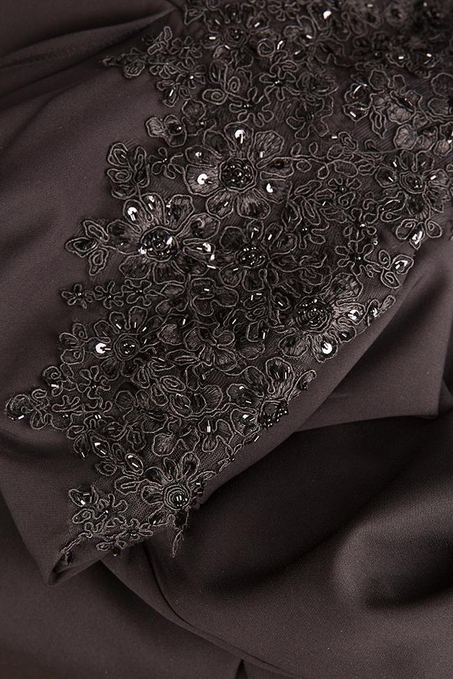 Embroidered draped crepe jumpsuit Esa  image 4