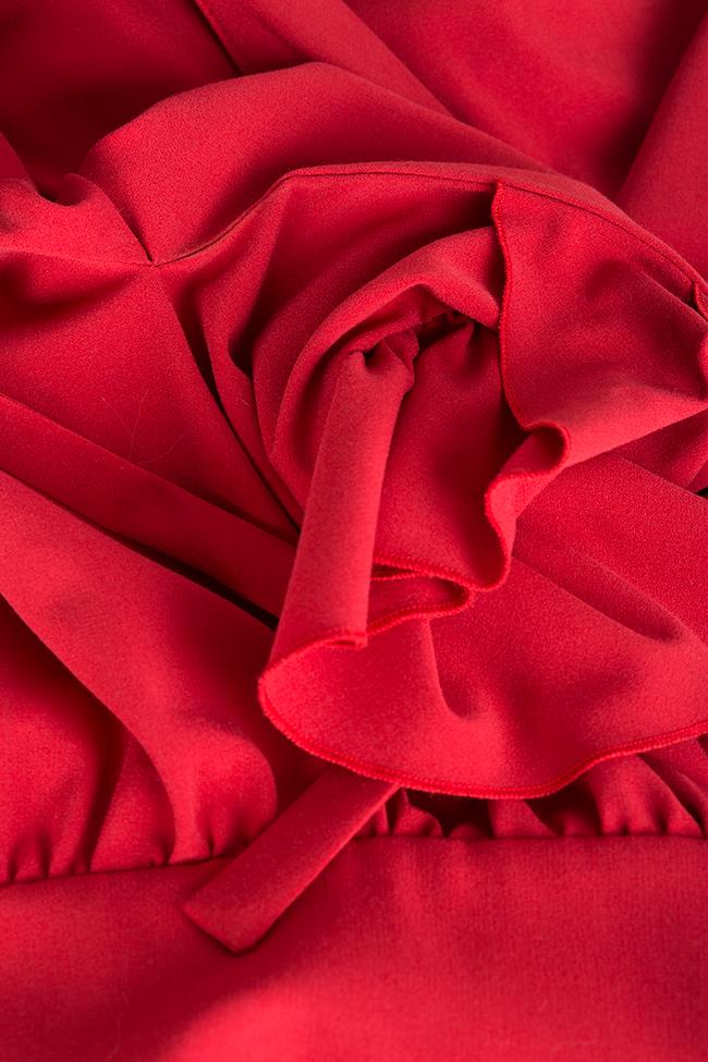 Bluza din matase satinata cu spatele gol Haruki Arllabel Golden Brand imagine 4