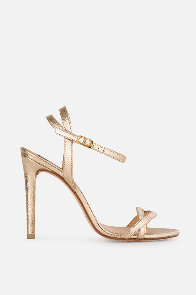 Simply Goldie 2 metallic leather sandals Hannami image 0
