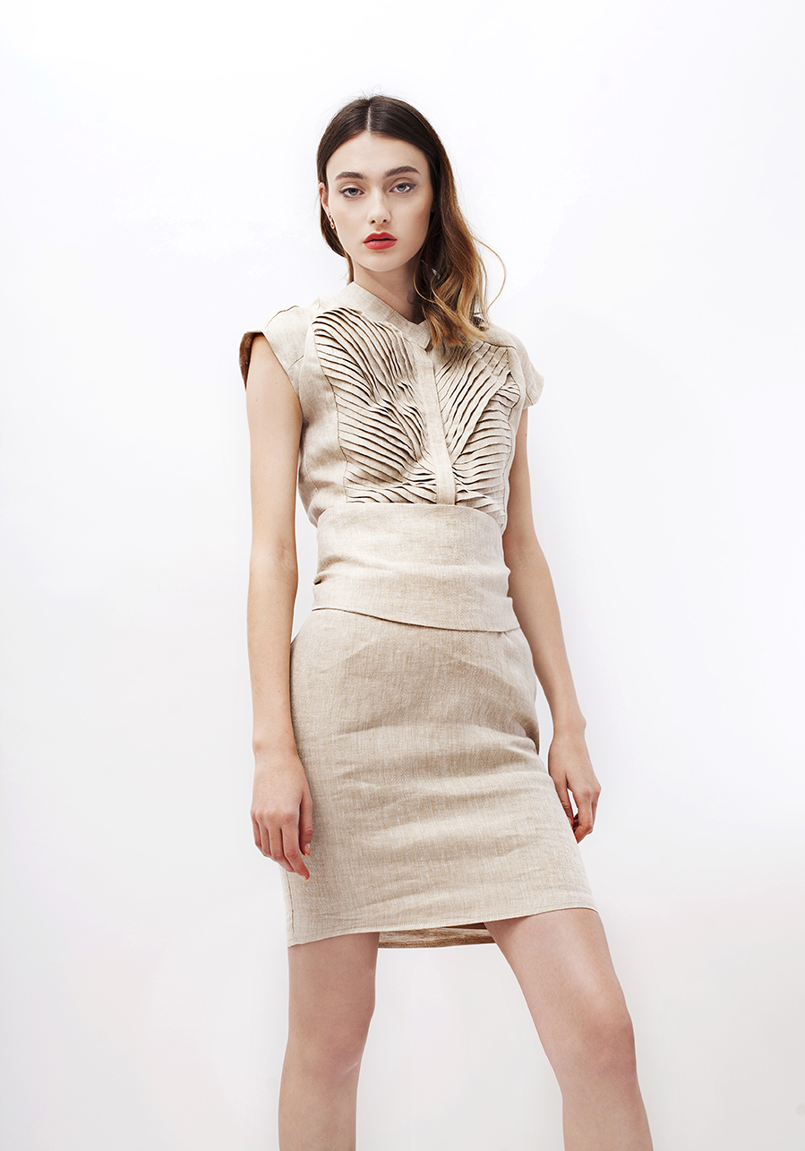 Belted linen dress InfinityF image 4