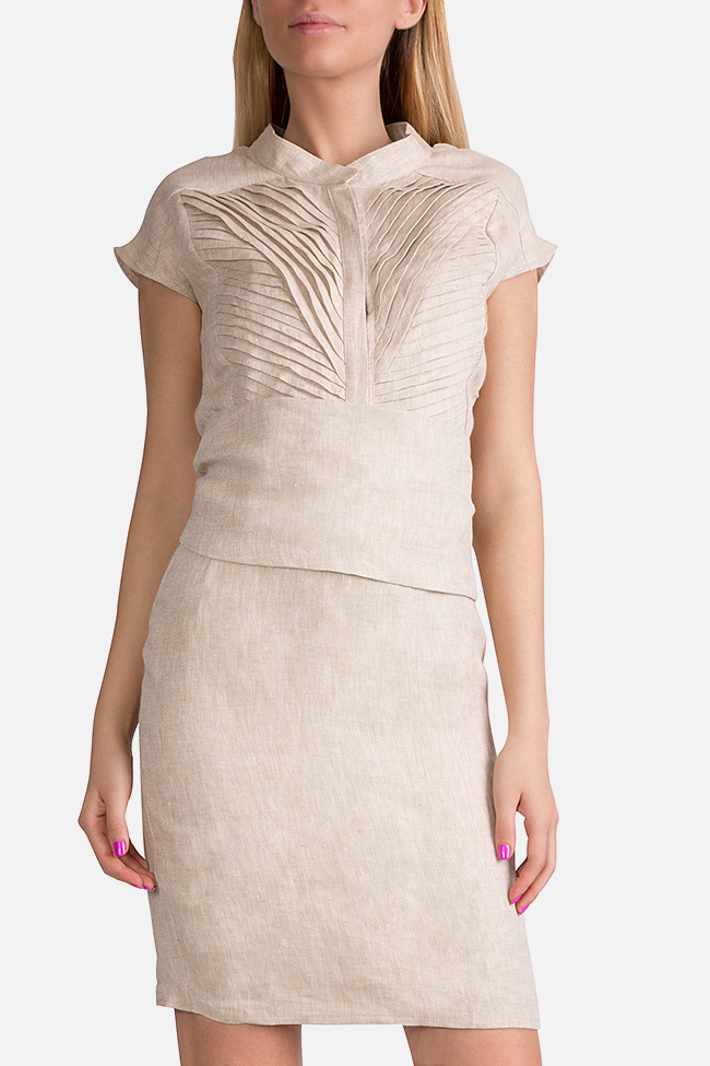 Belted linen dress InfinityF image 0