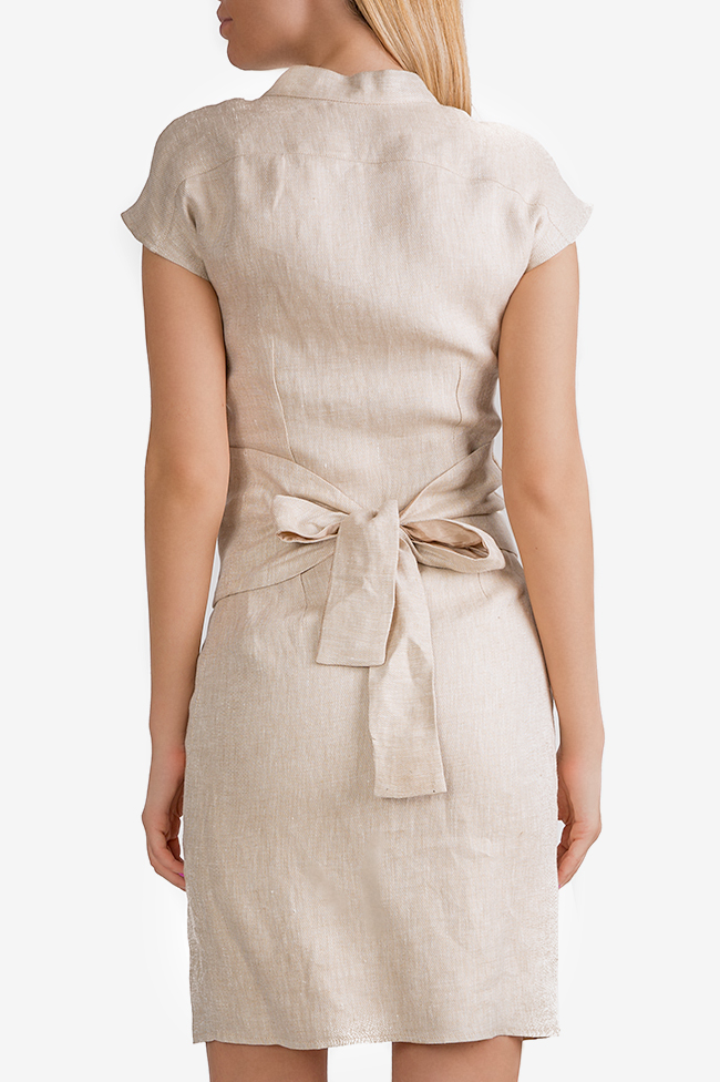 Belted linen dress InfinityF image 2
